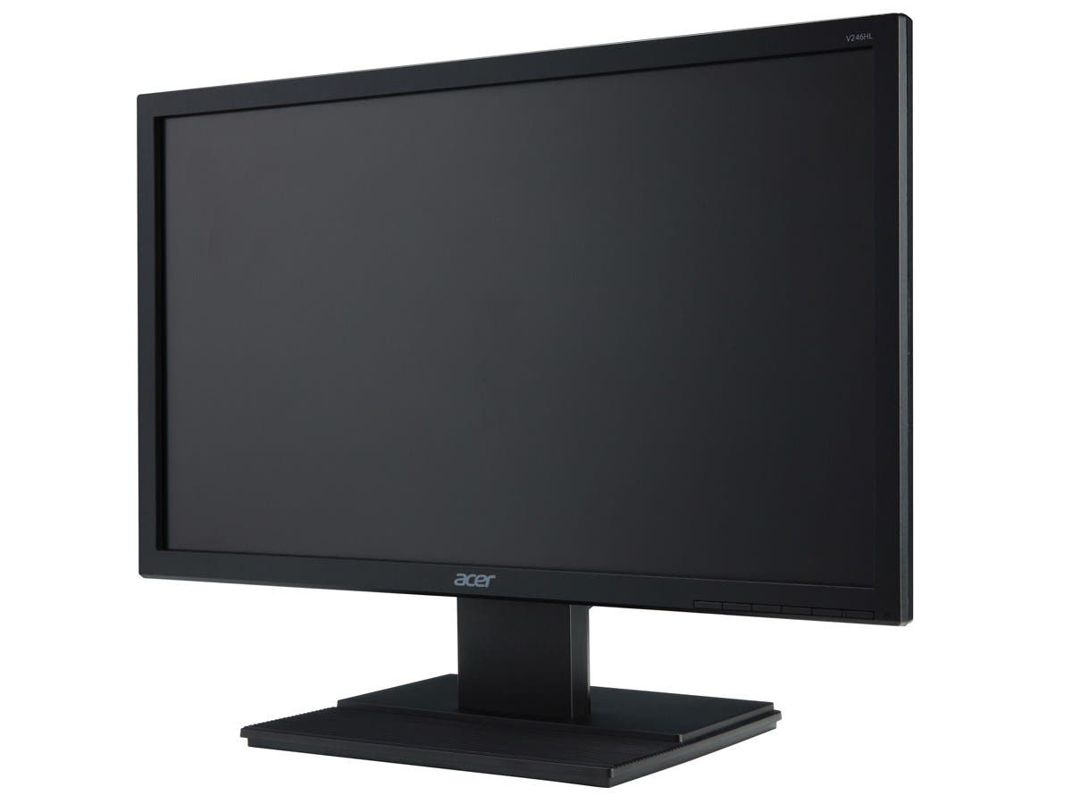 "Acer V246HL bmid Black 24"" 5ms HDMI LED Backlight LCD Monitor250 cd/m2 100,000,000:1-Large-Image-1"