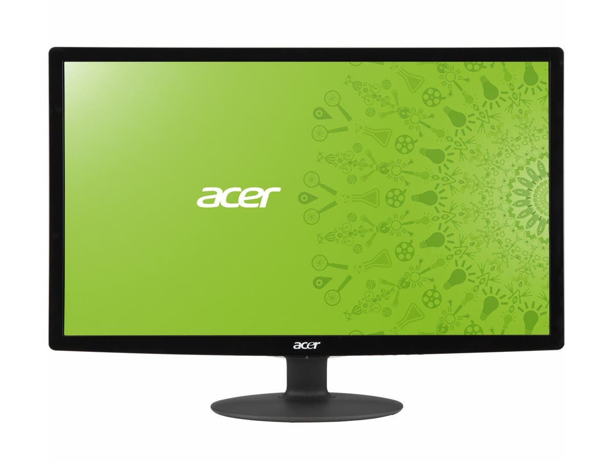"Acer S241HLbmid Black 24"" 5ms HDMI Widescreen LED Backlight LCD Monitor 250 cd/m2 ACM 100,000,000:1 (1,000:1) Built-in Speakers-Large-Image-1"