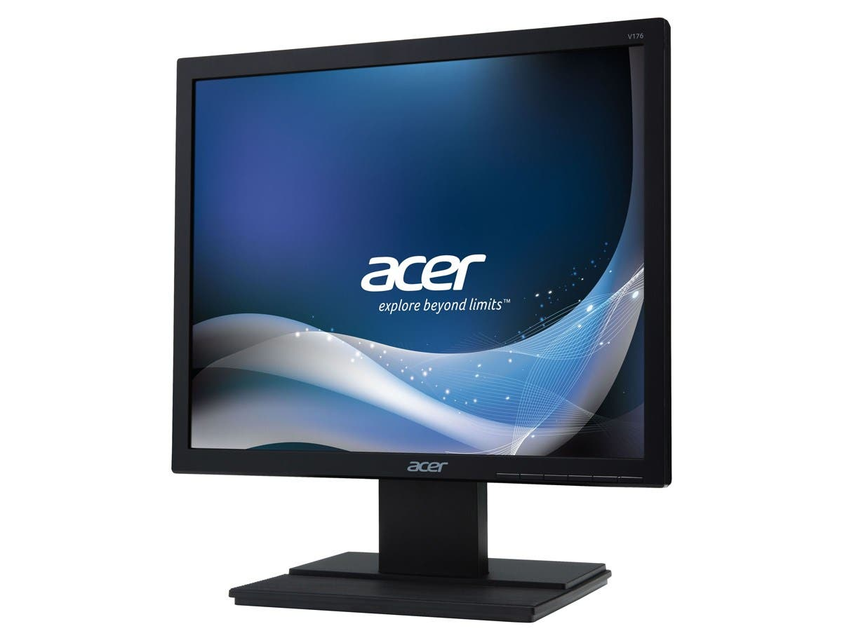 "Acer V176L 17"" LED LCD Monitor - 5:4 - 5 ms - Adjustable Display Angle - 1280 x 1024 - 16.7 Million Colors - 250 Nit - SXGA - Speakers - VGA - 13 W - Black - EPEAT Gold, TCO Certified Displays 6.0-Large-Image-1"