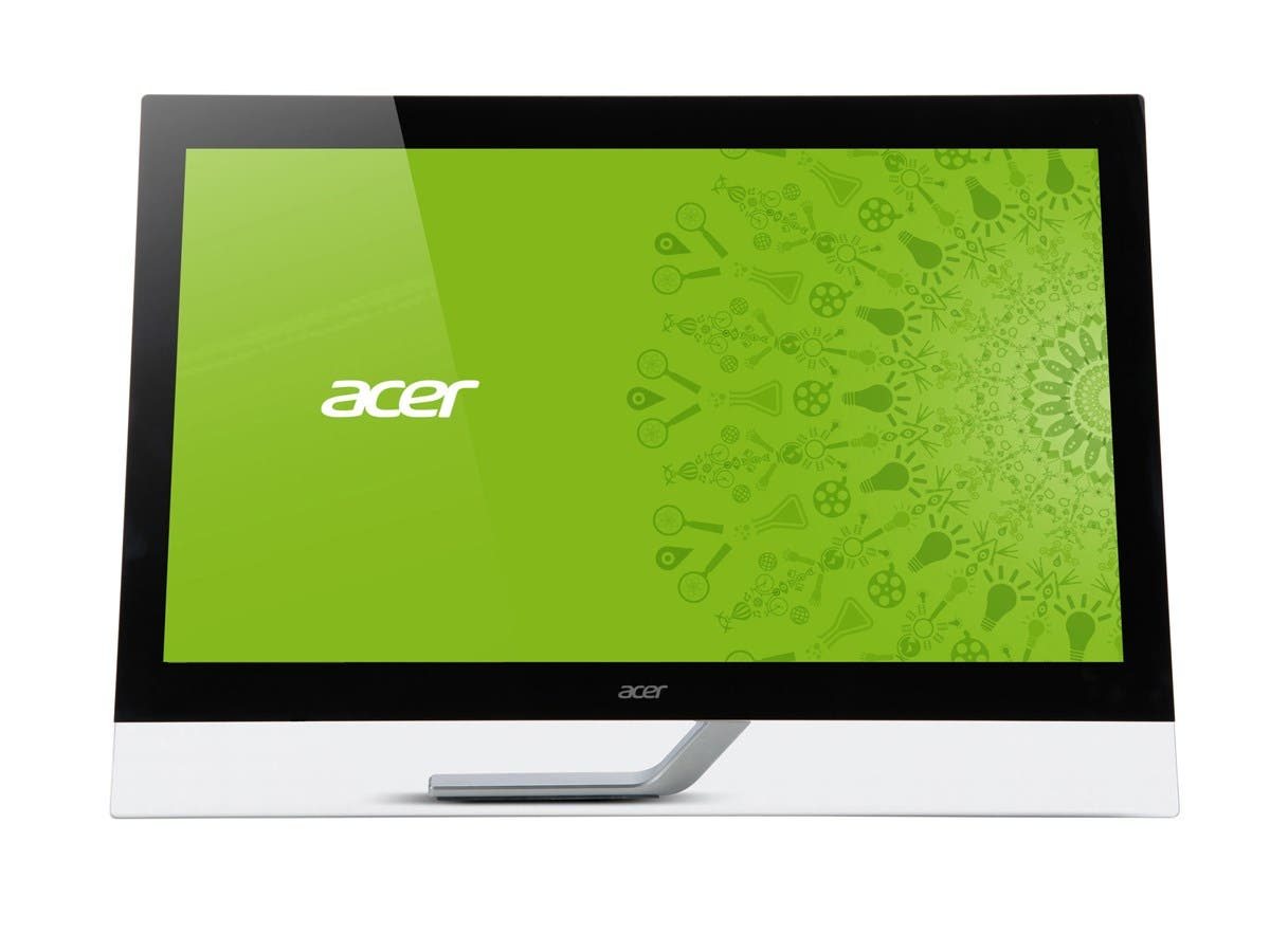 "Acer T272HL 27"" LED LCD Touchscreen Monitor - 16:9 - 5 ms - 1920 x 1080 - Full HD - Adjustable Display Angle - 16.7 Million Colors - 300 Nit - Speakers - DVI - HDMI - USB - VGA - Black - MPR II"