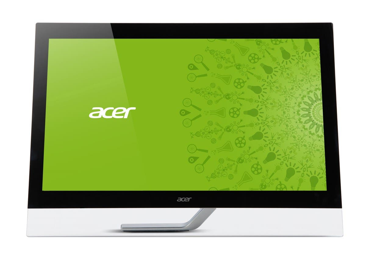 "Acer T232HL Abmjjz Black 23"" Touchscreen Monitor IPS 300 cd/m2 100000000:1 Built-in Speakers -Large-Image-1"