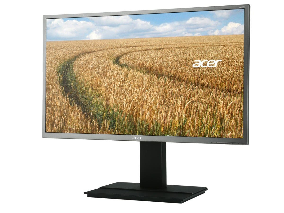 "Acer B326HUL 32"" LED LCD Monitor - 16:9 - 6 ms - 2560 x 1440 - 1.07 Billion Colors - 300 Nit - 100,000,000:1 - WQHD - Speakers - DVI - HDMI - DisplayPort - USB - 45 W - Dark Gray-Large-Image-1"
