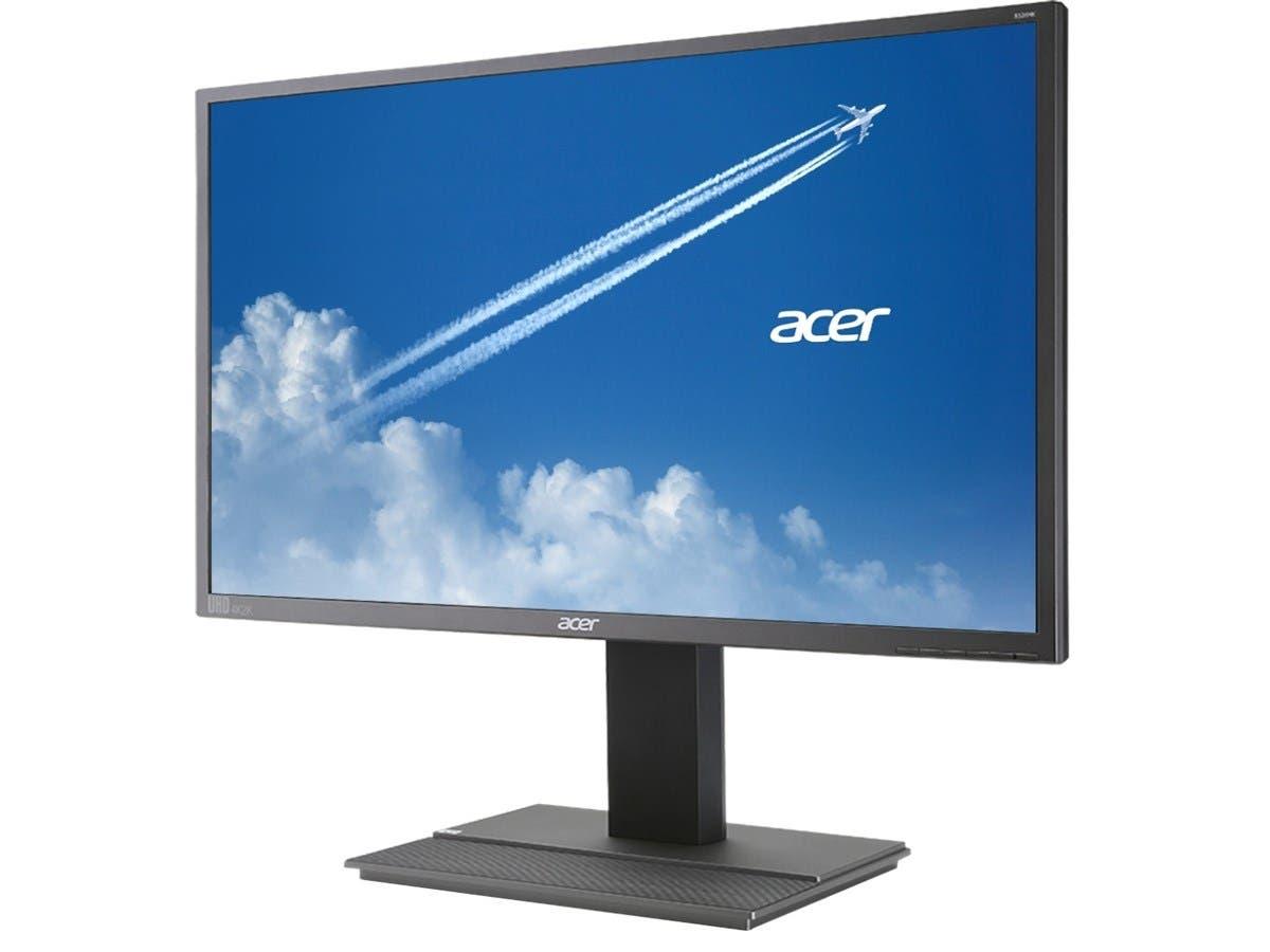 """Acer B6 B326HK YMJDPPHZ Black 32"""" 6ms 4k UHD Widescreen LED Backlight LCD Monitor IPS 350 cd/m2 ACM 100,000,000:1 (1000:1) Built-in Speakers"""
