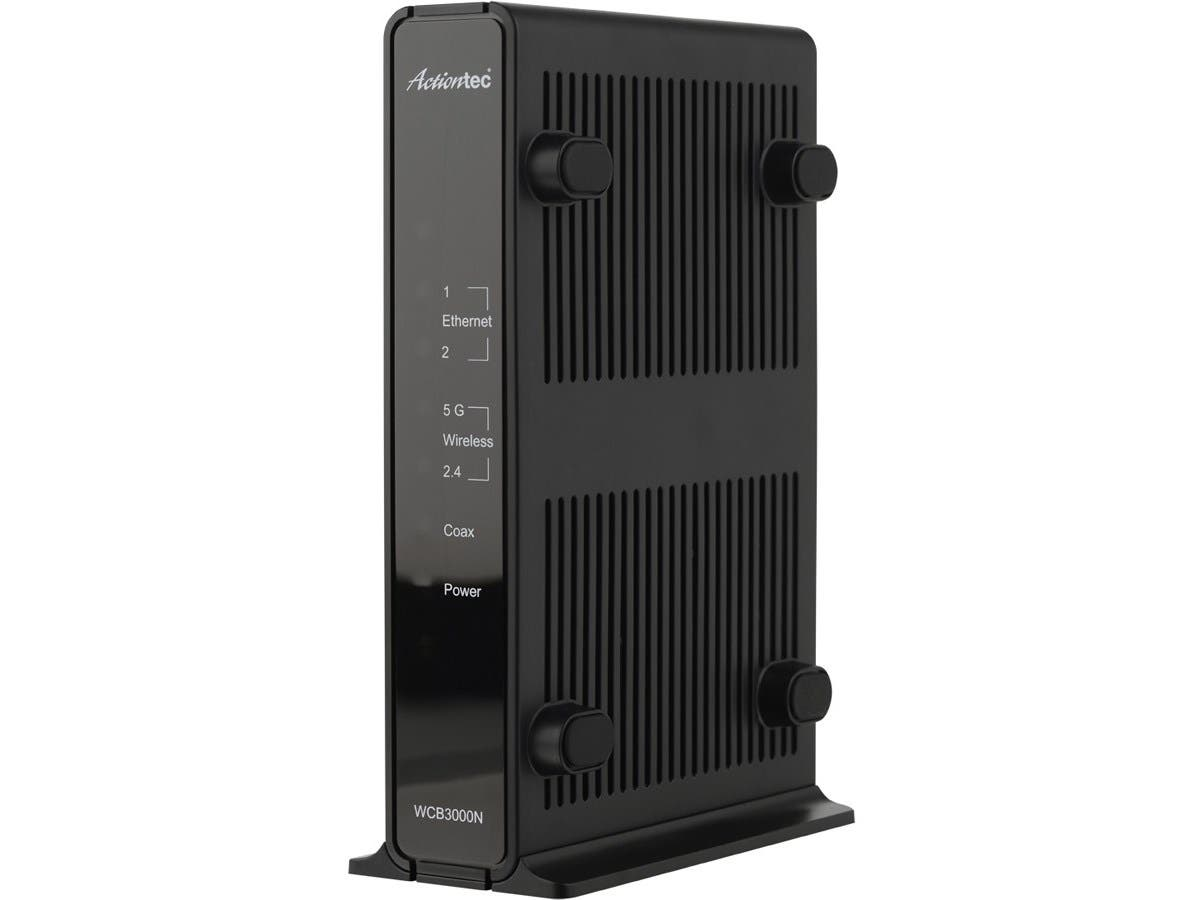 Actiontec WCB3000N01 MoCA Dual-Band Wireless Extender - Retail - 2.40 GHz, 5 GHz - 2 x Network (RJ-45) - Desktop, Wall Mountable