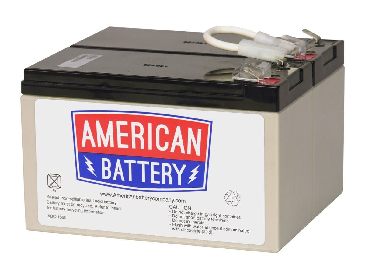 ABC UPS Battery Pack - 9000 mAh - 12 V DC - Sealed Lead Acid - Spill-proof/Maintenance-free - Hot Swappable - 3 Year Minimum Battery Life - 5 Year Maximum Battery Life-Large-Image-1