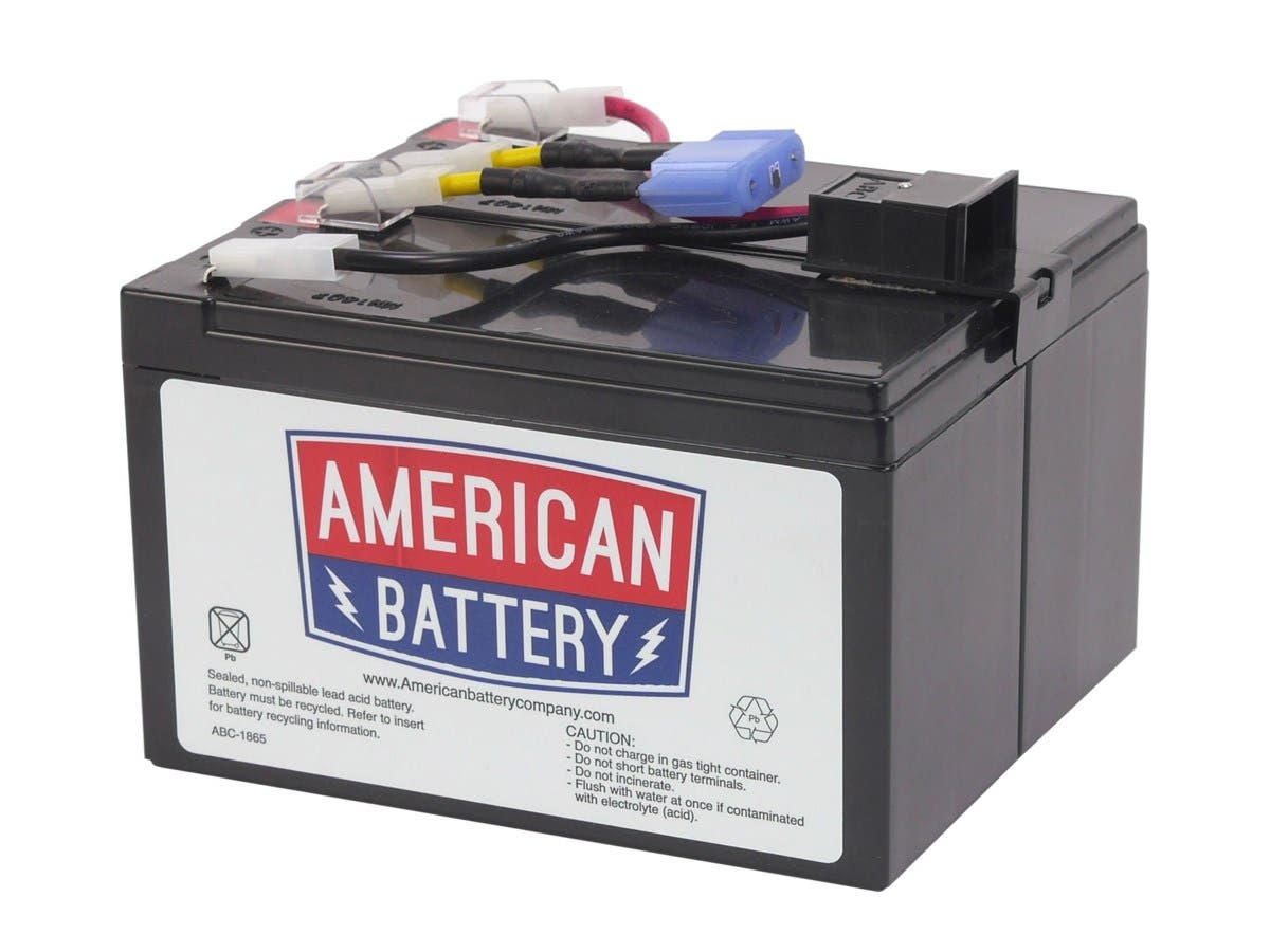 ABC RBC48 Replacement Battery - 7000 mAh - 12 V DC - Sealed Lead Acid - Spill-proof/Maintenance-free - Hot Pluggable - Hot Swappable - 3 Year Minimum Battery Life - 5 Year Maximum Battery Life