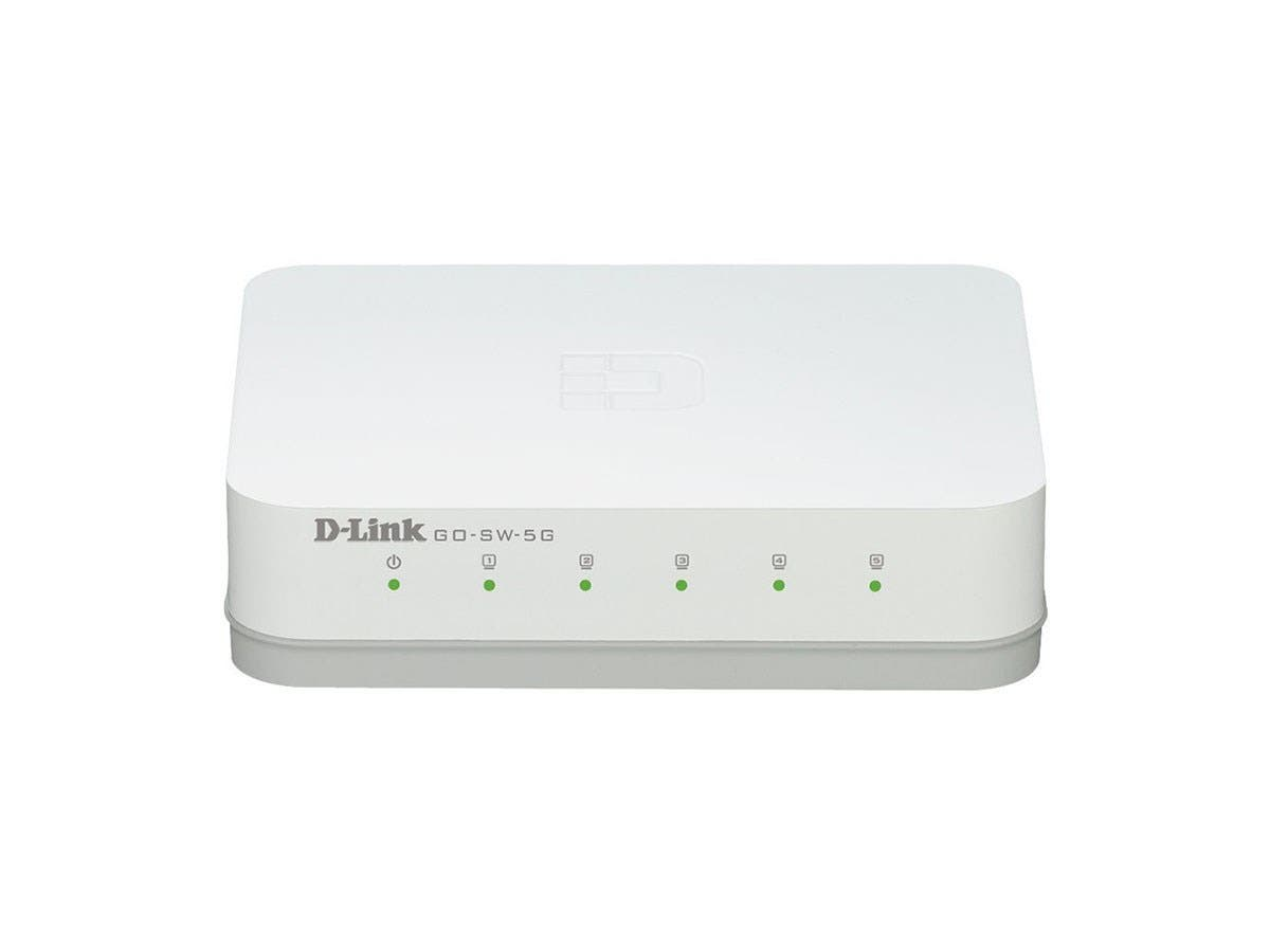 D-Link GO-SW-5G 5-Port Gigabit Unmanaged Desktop Switch - 5 Ports - 10/100/1000Base-T - 2 Layer Supported - Desktop - 3 Year-Large-Image-1