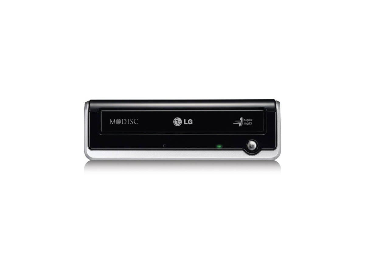 LG GE24NU40 External DVD-Writer - Retail Pack - DVD-RAM/±R/±RW Support - 48x CD Read/48x CD Write/24x CD Rewrite/24x DVD Write/8x DVD Rewrite - Double-layer Media Supported - USB 2.0-Large-Image-1
