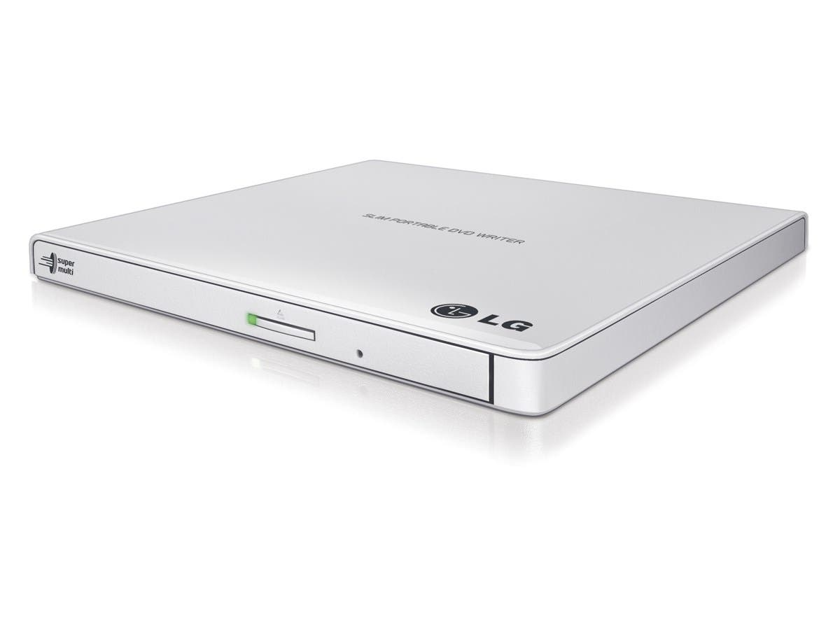 LG USB 2.0 External CD/DVD Rewriter With M-Disc Support (White)-model GP65NW60-Large-Image-1