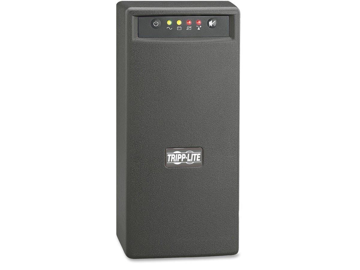 Tripp Lite UPS 1000VA 500W Battery Back Up Tower AVR 120V USB RJ45 - 1000 VA/500 W - 120 V AC - 3.50 Minute - Tower - 3.50 Minute - 2 x NEMA 5-15R, 6 x NEMA 5-15R - Surge