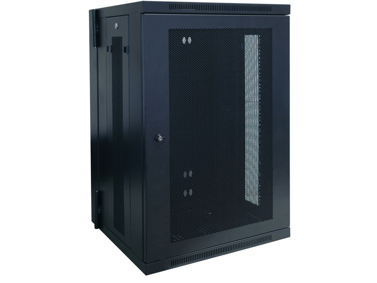"Tripp Lite 18U Wall Mount Rack Enclosure Server Cabinet Hinged w/ Door & Sides - 19"" 18U Wall Mounted-Large-Image-1"