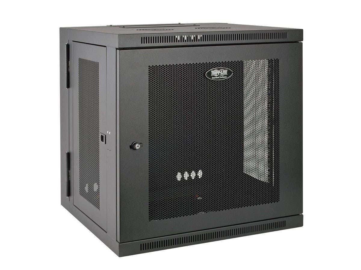 "Tripp Lite 10U Wall Mount Rack Enclosure Server Cabinet Hinged w/ Door & Sides - 19"" 10U Wall Mounted-Large-Image-1"