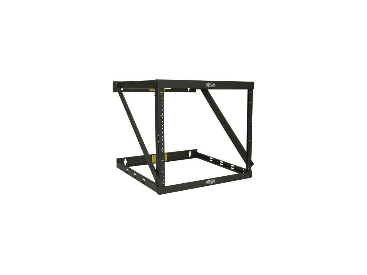 tripp lite wall mount 2-post open frame rack cabinet 8u    14u    22u - wall mountable