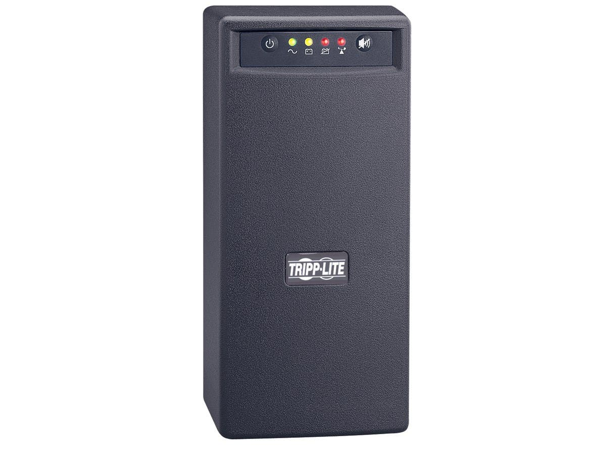 Tripp Lite UPS 800VA 475W Battery Back Up Tower AVR 120V USB RJ11 RJ45 - 800 VA/475 W - 120 V AC - 3.50 Minute - Tower - 3.50 Minute - 6 x NEMA 5-15R, 1 x NEMA 5-15R-Large-Image-1
