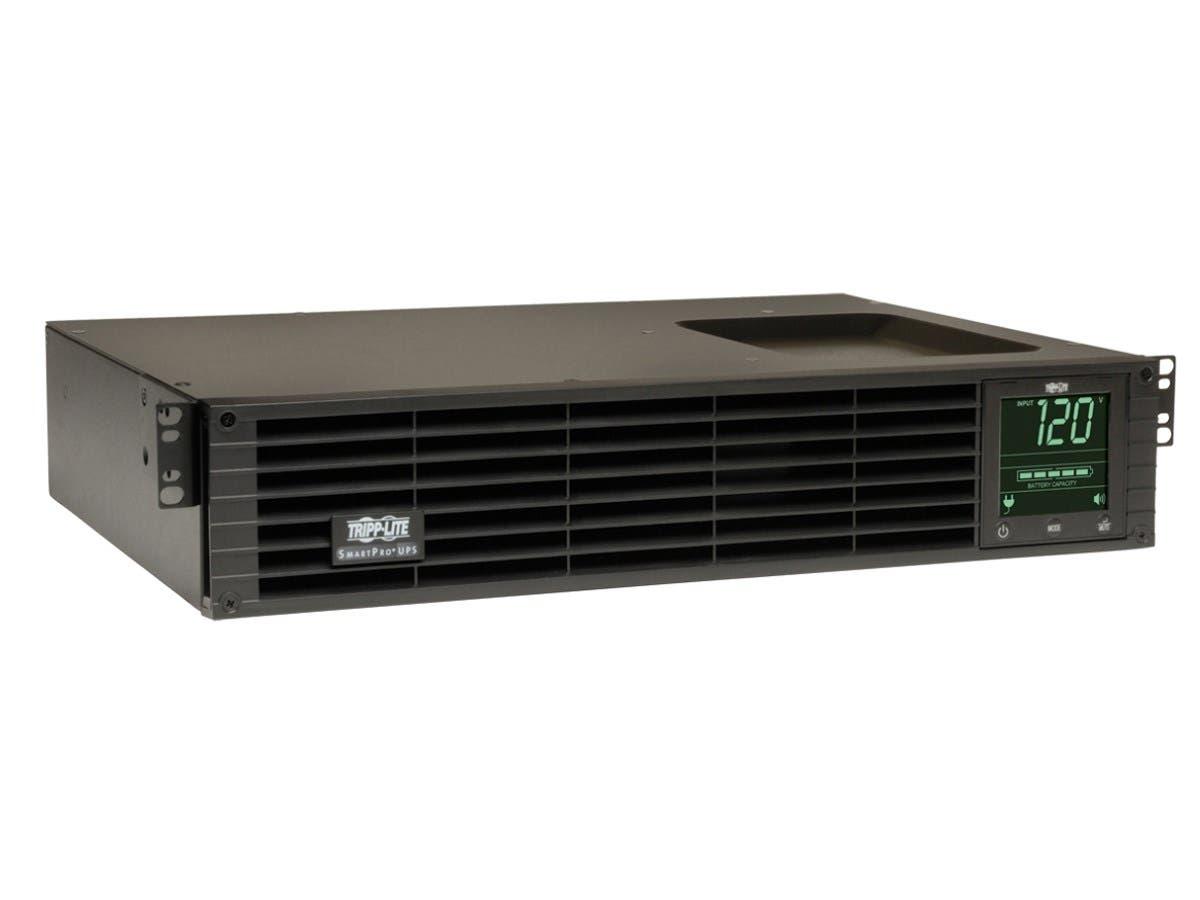 Tripp Lite UPS Smart 750VA 450W Rackmount AVR 120V Pure Sign Wave USB DB9 SNMP 2URM - 750VA/450W - 12.5 Minute Full Load - 6 x NEMA 5-15R-Large-Image-1