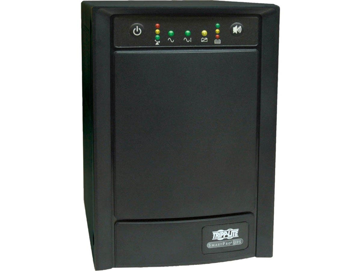Tripp Lite UPS Smart 750VA 500W Tower AVR 100/110/120V Pure Sign Wave USB DB9 SNMP RJ45 - 750VA/500W - 5 Minute Full Load - 4 x NEMA 5-15R - Battery/Surge-protected, 4 x NEMA 5-15R - Surge-protected-Large-Image-1