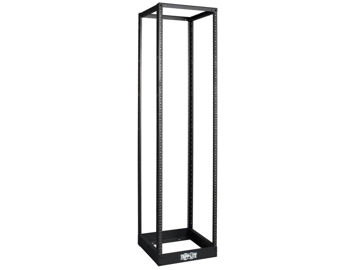 Tripp Lite 45U 4-Post Open Frame Rack Cabinet Square Holes 1000lb Capacity - 45U-Large-Image-1