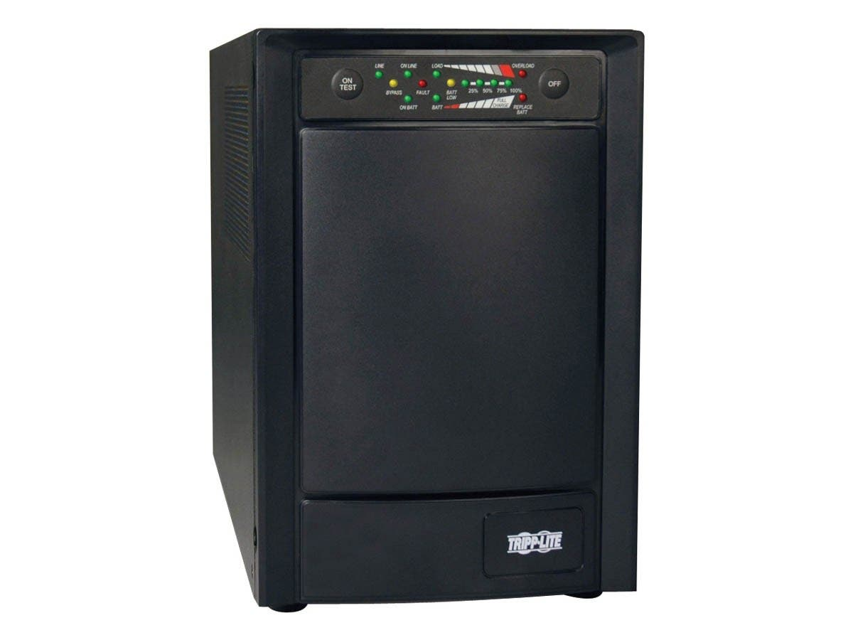 Tripp Lite UPS Smart Online 750VA 600W Tower 100V/110V/120V USB DB9 SNMP RT - 750VA/600W - 4 Minute Full Load - 6 x NEMA 5-15R-Large-Image-1