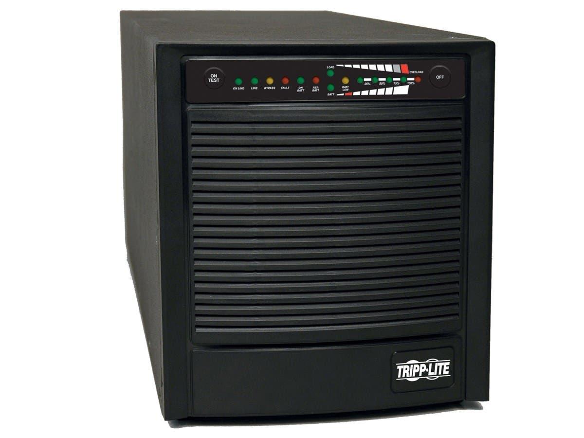Tripp Lite UPS Smart Online 1500VA 1200W Tower 100V-120V USB DB9 SNMP RT - 1500VA/1200W - 4.5 Minute Full Load - 6 x NEMA 5-15R-Large-Image-1