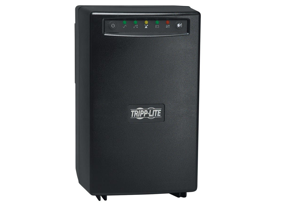 Tripp Lite UPS Smart 750VA 450W Tower AVR 120V USB for Servers - 750 VA/450 W - 120 V AC - 5.50 Minute - Tower - 5.50 Minute - 6 x NEMA 5-15R-Large-Image-1
