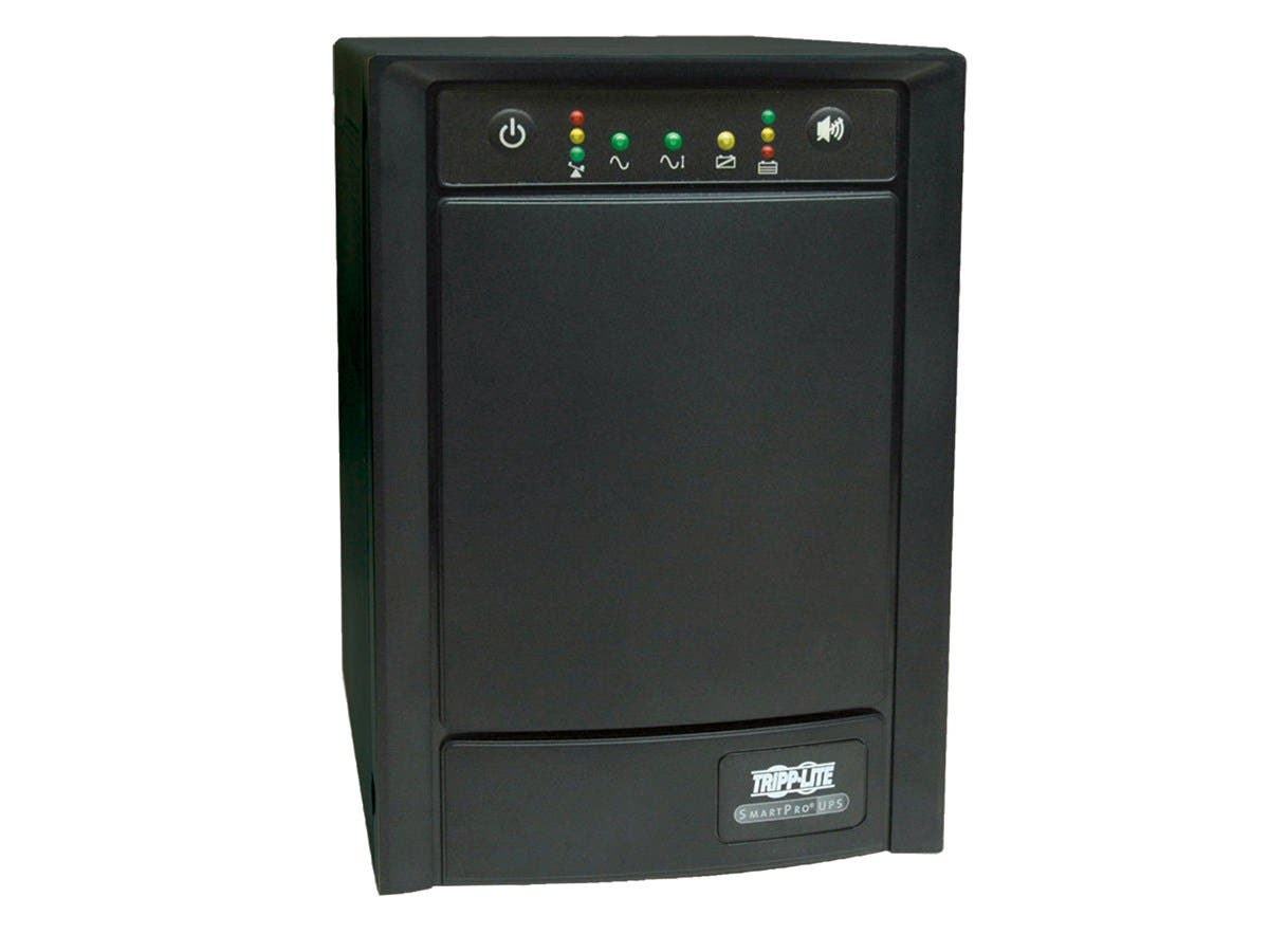 Tripp Lite UPS Smart 750VA 500W Tower AVR 100V-120V Pure Sign Wave USB DB9 SNMP RJ45 - 750VA/500W - 10 Minute Full Load - 8 x NEMA 5-15R-Large-Image-1