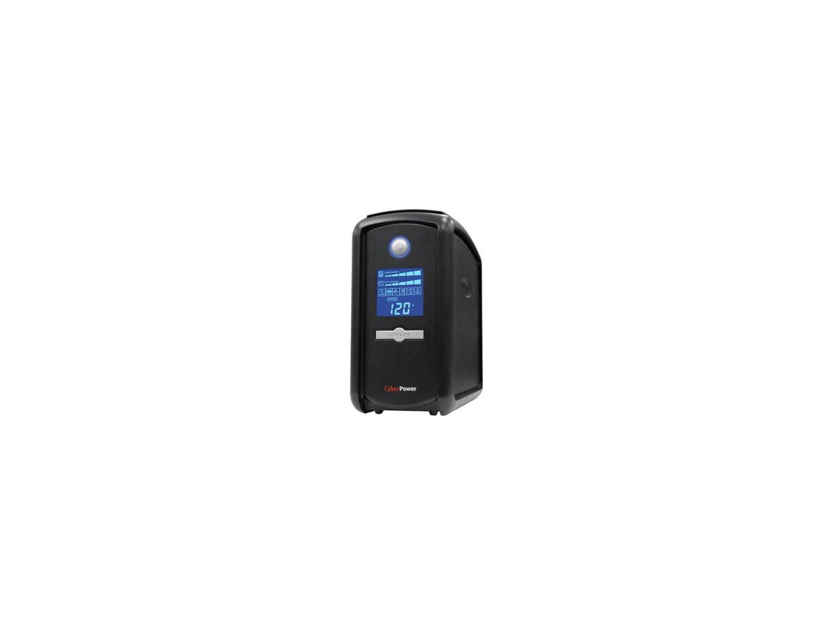CyberPower Intelligent LCD CP850AVRLCD 850 VA Tower UPS - 850VA/510W - 1 Minute Full Load - 5 x NEMA 5-15R - Battery/Surge-protected, 4 x NEMA 5-15R - Surge-protected-Large-Image-1