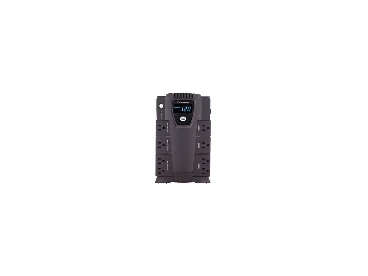 CyberPower Intelligent LCD CP600LCD 600 VA Desktop UPS - 600VA/340W - 2 Minute Full Load - 4 x NEMA 5-15R - Battery/Surge-protected, 4 x NEMA 5-15R - Surge-protected-Large-Image-1