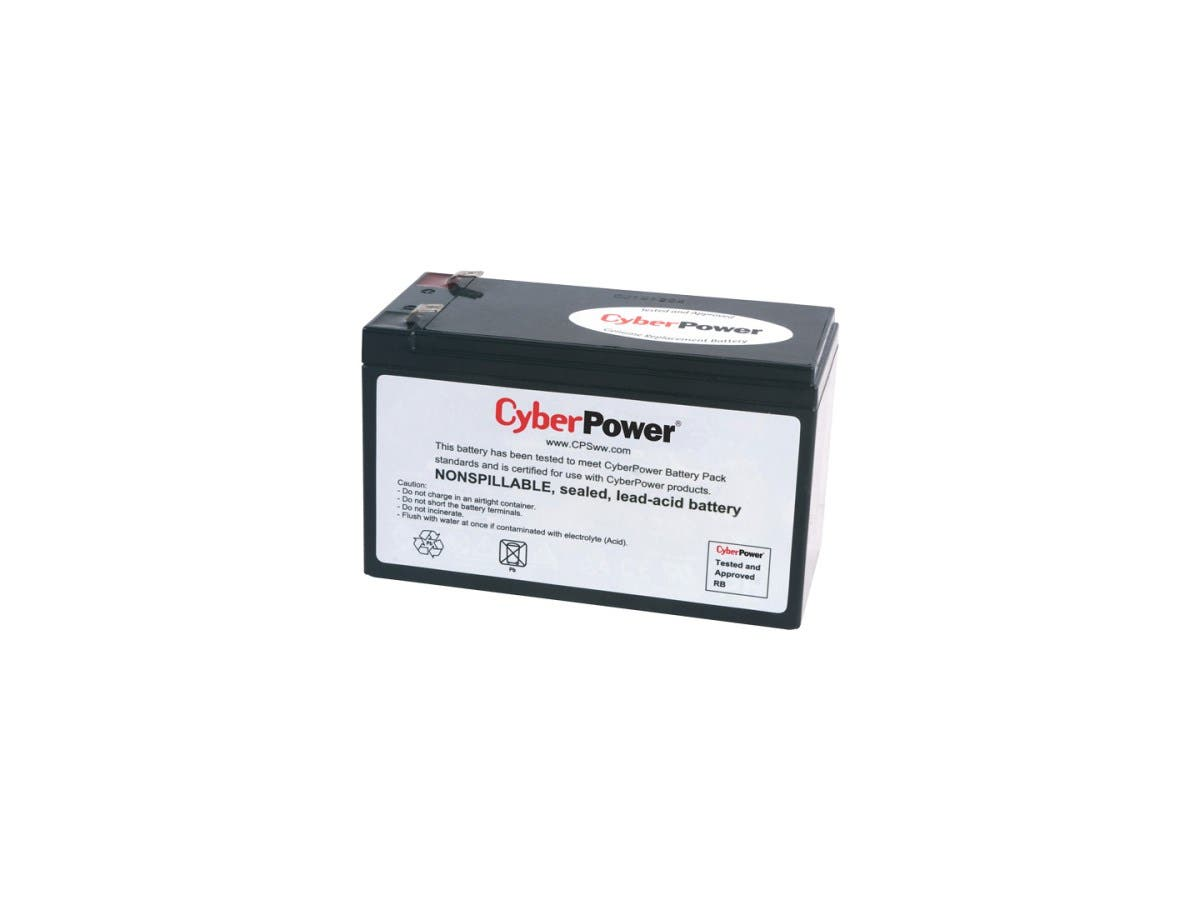 CyberPower RB1280A UPS Replacement Battery Cartridge - 8Ah - 12V DC - Maintenance-free Sealed Lead Acid-Large-Image-1