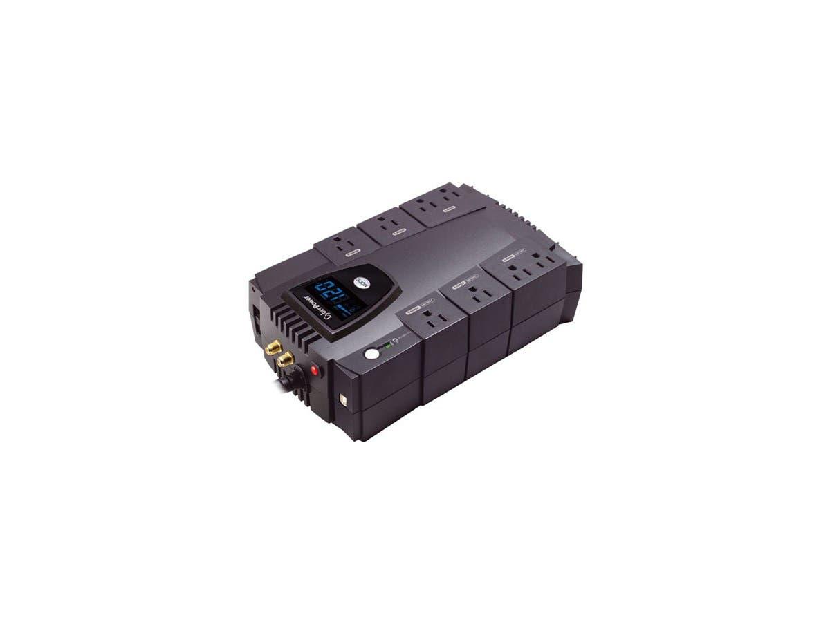 CyberPower Intelligent LCD CP685AVRLCD 685VA Desktop UPS - 685VA/390W - 2 Minute Full Load - 4 x NEMA 5-15R - Battery/Surge-protected, 4 x NEMA 5-15R - Surge-protected