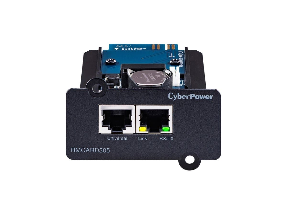 CyberPower TAA Compliant RMCARD305 OL UPS Remote Management Card - SNMP/HTTP/CLI/NMS/Enviro Port - SmartSlot - 10/100Base-TX, Serial