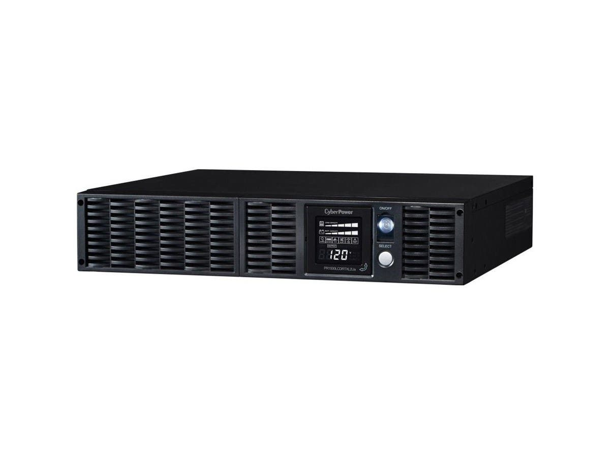 CyberPower Smart App Sinewave PR1500LCDRTXL2Ua 1500VA Pure Sine Wave RT LCD UPS - 1500 VA/1350 W - 4 Minute - Tower/Rack Mountable - 4 Minute - 8 x NEMA 5-15R - Surge, EMI / RFI-Large-Image-1