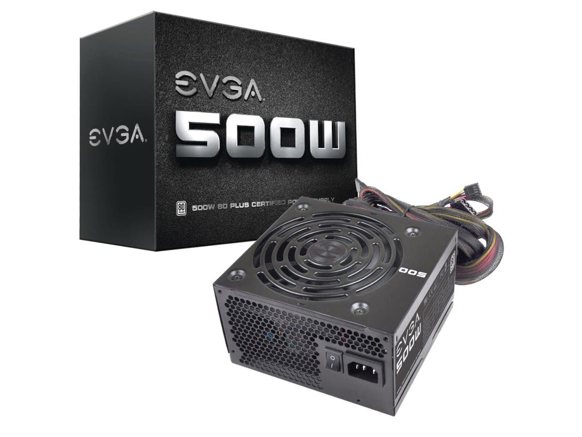 EVGA 500W 80Plus Power Supply Unit (100-W1-0500-KR) - ATX12V - Internal - 500 W-Large-Image-1