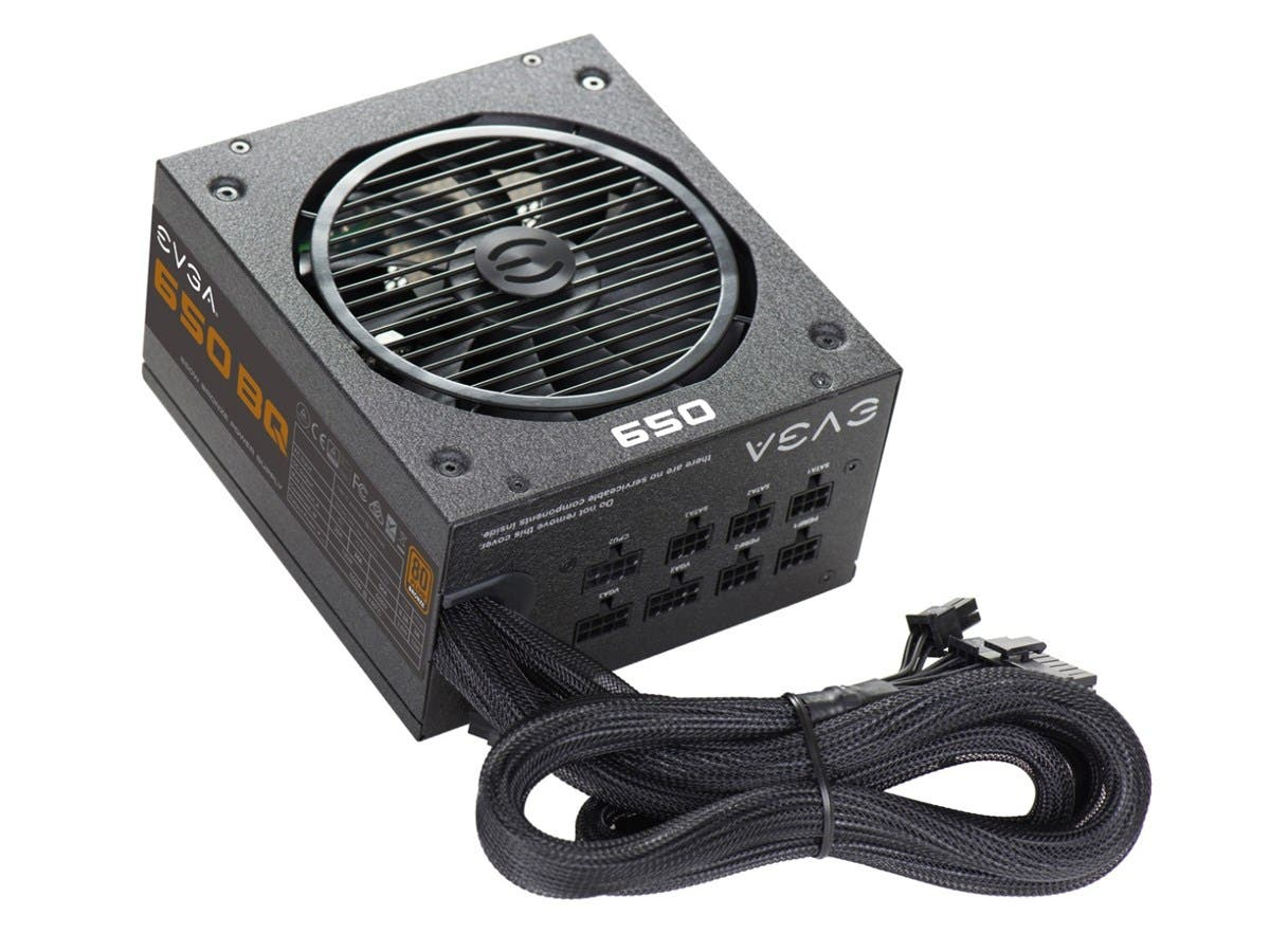 EVGA 650 BQ Power Supply - ATX12V/EPS12V - 120 V AC, 230 V AC Input Voltage - 3.3 V DC, 5 V DC, 12 V DC, 12 V DC, 5 V DC Output Voltage - 1 Fans - Internal - Modular - 650 W