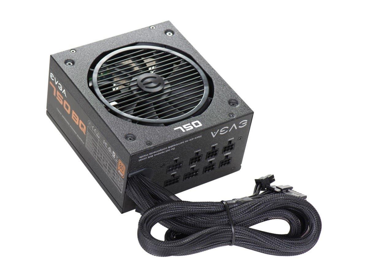 EVGA 750 BQ Power Supply - ATX12V/EPS12V - 120 V AC, 230 V AC Input Voltage - 3.3 V DC, 5 V DC, 12 V DC, 12 V DC, 5 V DC Output Voltage - 1 Fans - Internal - Modular - 750 W