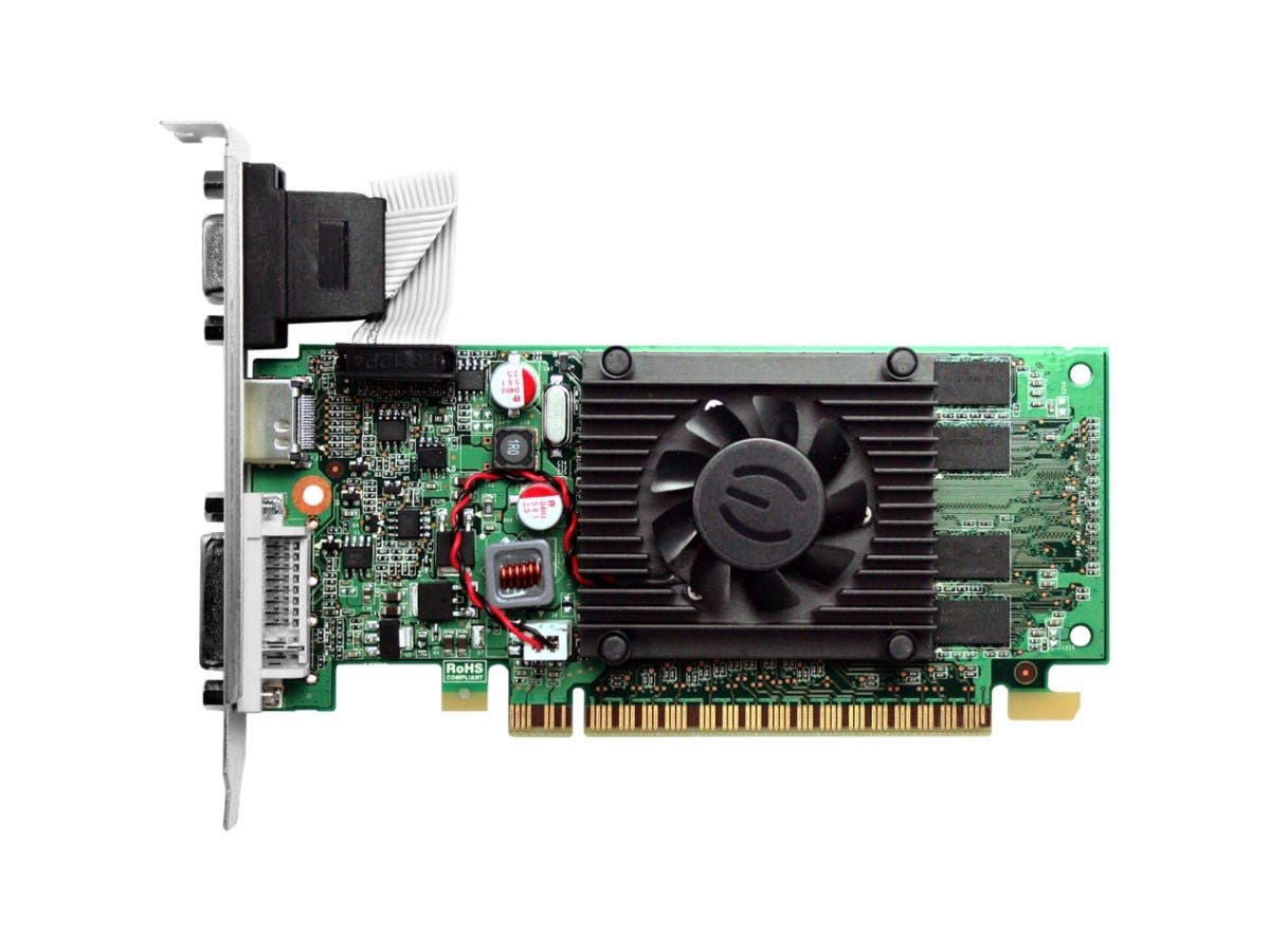 EVGA 512-P3-1310-LR GeForce 210 Graphic Card - 520 MHz Core - 512 MB DDR3 SDRAM - PCI Express 2.0 x16 - 1200 MHz Memory Clock - 32 bit Bus Width - 2560 x 1600 -Large-Image-1