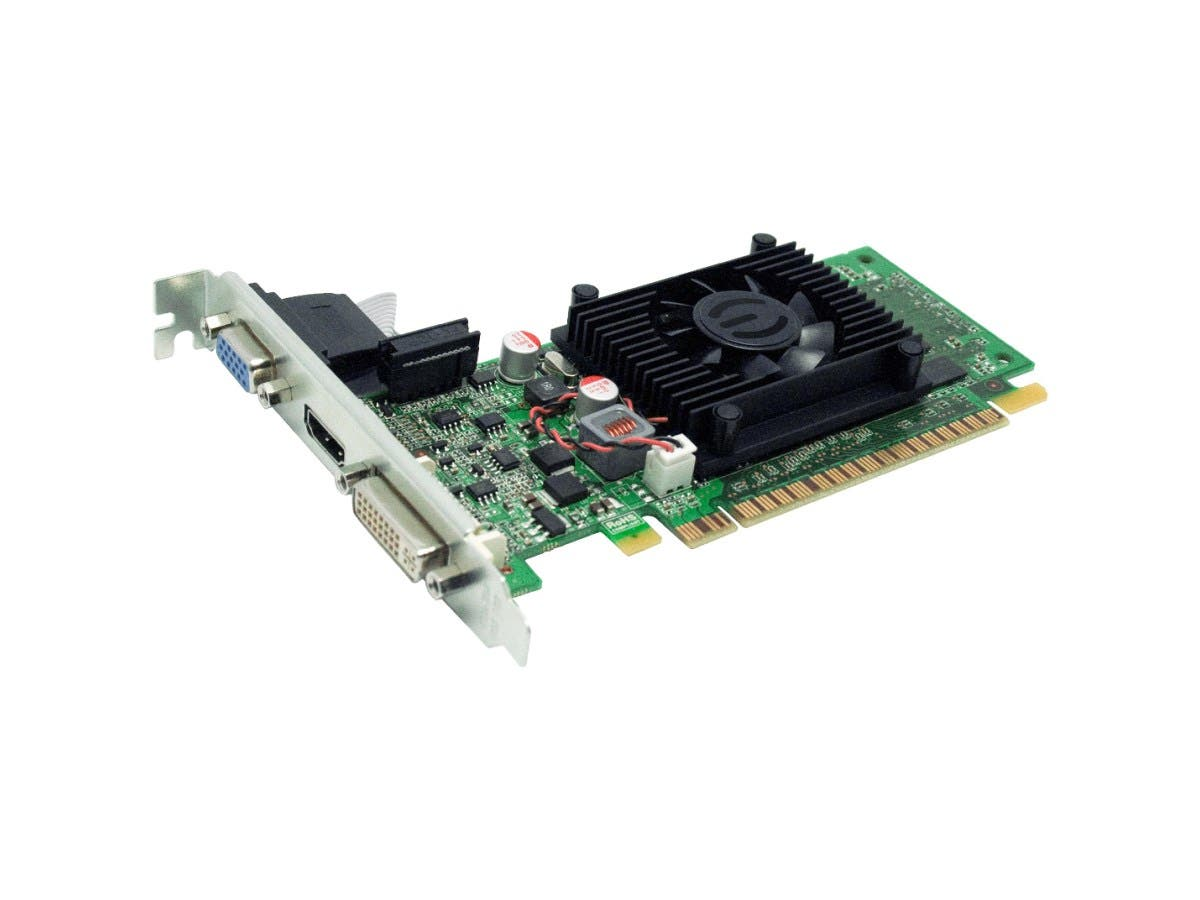 EVGA 01G-P3-1312-LR GeForce 210 Graphic Card - 520 MHz Core - 1 GB DDR3 SDRAM - PCI Express 2.0 x16 - 600 MHz Memory Clock - 64 bit Bus Width - 2560 x 1600-Large-Image-1