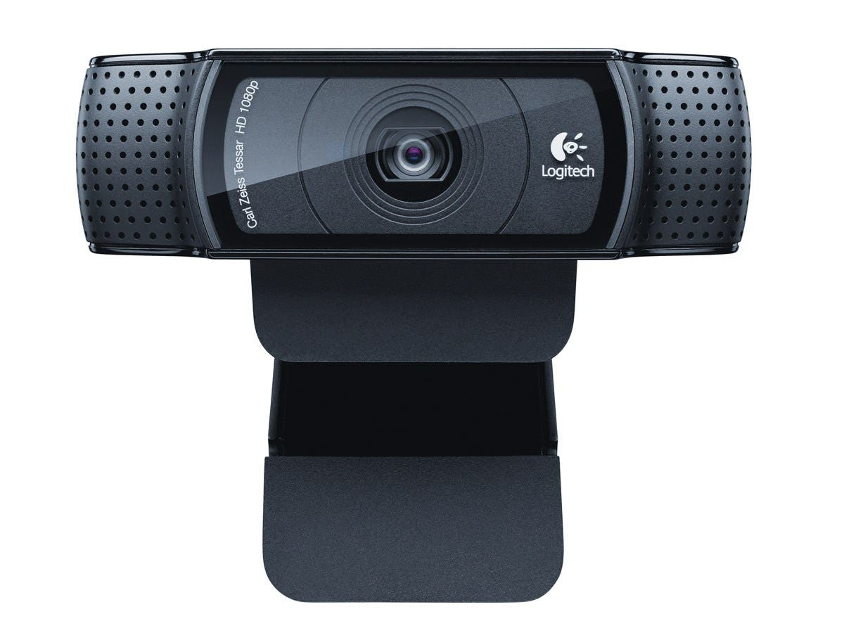 Logitech C920 Webcam - 30 fps - Black - USB 2.0 - 1920 x 1080 Video - Auto-focus - Widescreen - Microphone-Large-Image-1