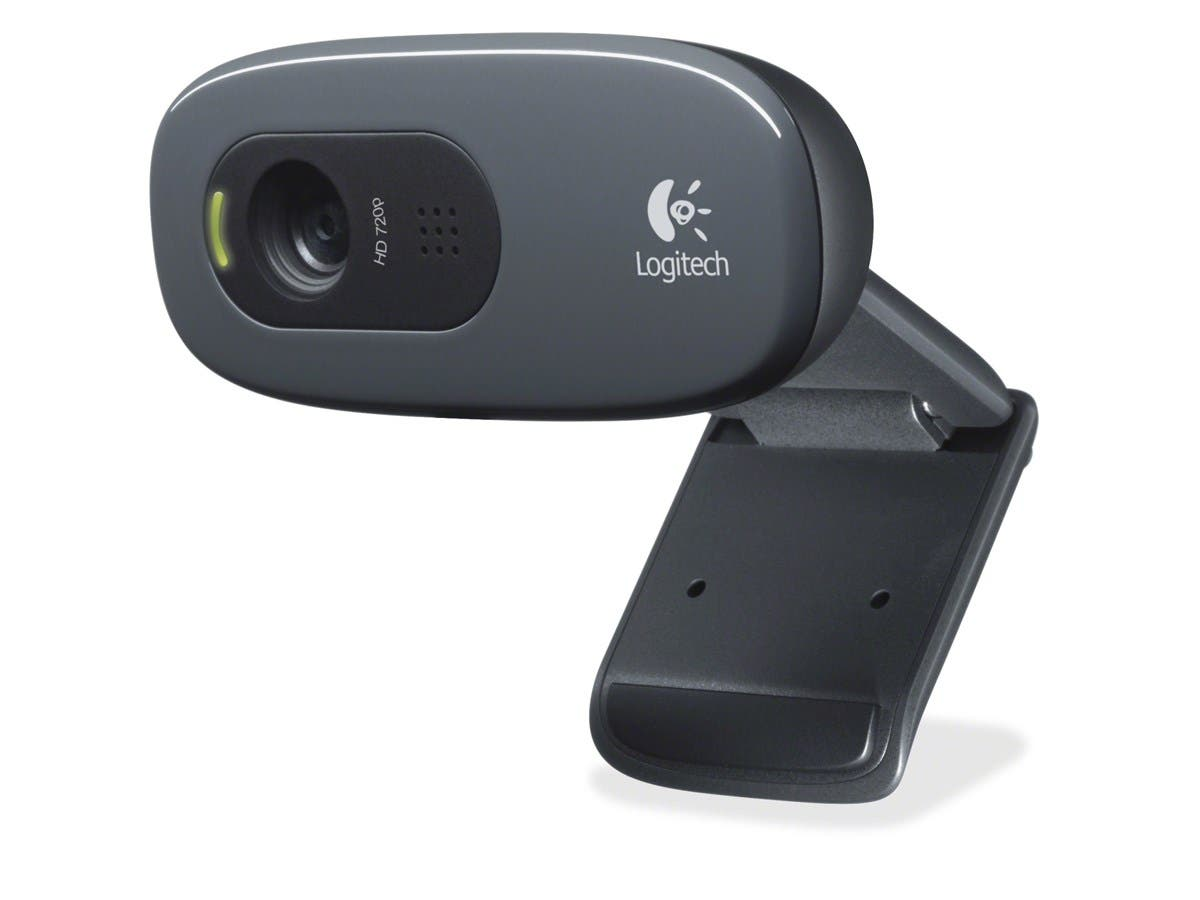 Logitech C270 Webcam - Black - USB 2.0 - 1 Pack(s) - 3 Megapixel Interpolated - 1280 x 720 Video - Widescreen - Microphone-Large-Image-1