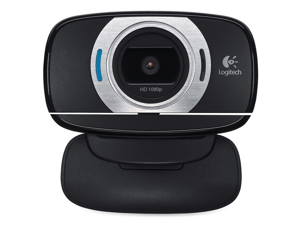 Logitech C615 Webcam - 2 Megapixel - 30 fps - Black - USB 2.0 - 1 Pack(s) - 8 Megapixel Interpolated - 1920 x 1080 Video - Auto-focus - Widescreen - Microphone-Large-Image-1