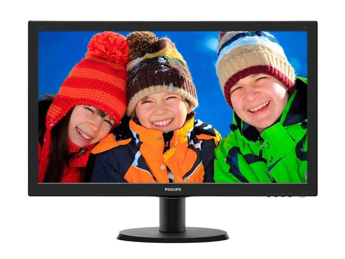 """Philips V-line 243V5LSB 23.6"""" LED LCD Monitor - 16:9 - 5 ms - 1920 x 1080 - 16.7 Million Colors - 250 Nit - 10,000,000:1 - DVI - VGA-Large-Image-1"""