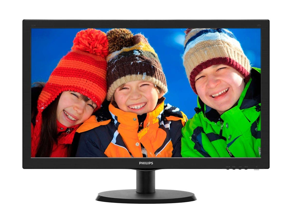 "Philips V-line 223V5LSB 21.5"" LED LCD Monitor - 16:9 - 5 ms - 1920 x 1080 - 16.7 Million Colors - 250 Nit - 10,000,000:1 - Full HD - DVI - VGA"