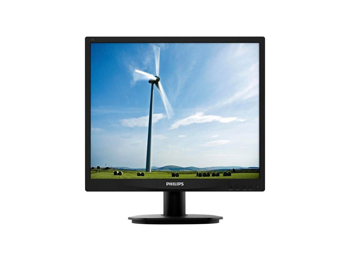 "Philips 19S4LSB5 19"" LED LCD Monitor - 5:4 - 5 ms - Adjustable Display Angle - 1280 x 1024  - 250 Nit - 20,000,000:1 - SXGA - DVI - VGA - 14.30 W - Textured Black - WEEE, TCO Cert"