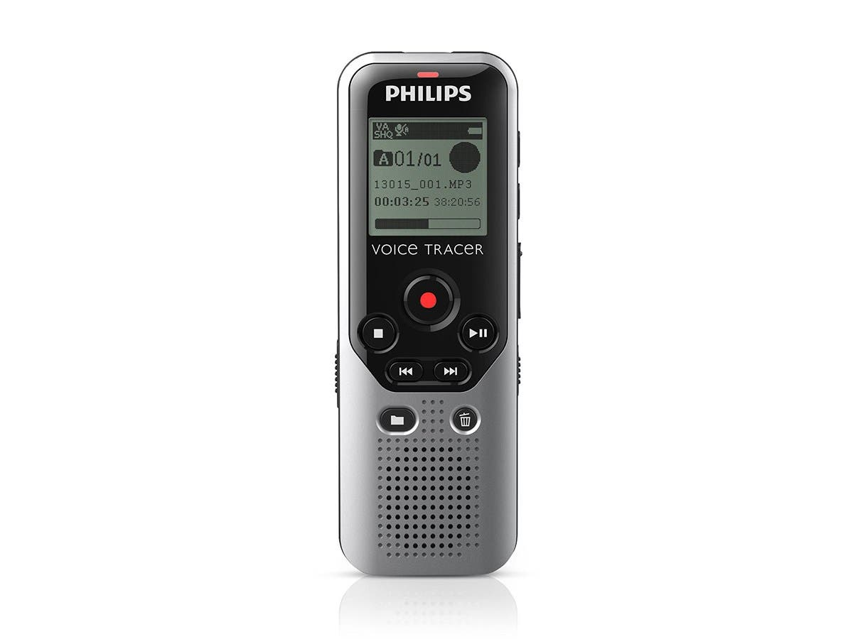 Philips DVT1200 4GB Digital Voice Recorder with microSD Card Slot