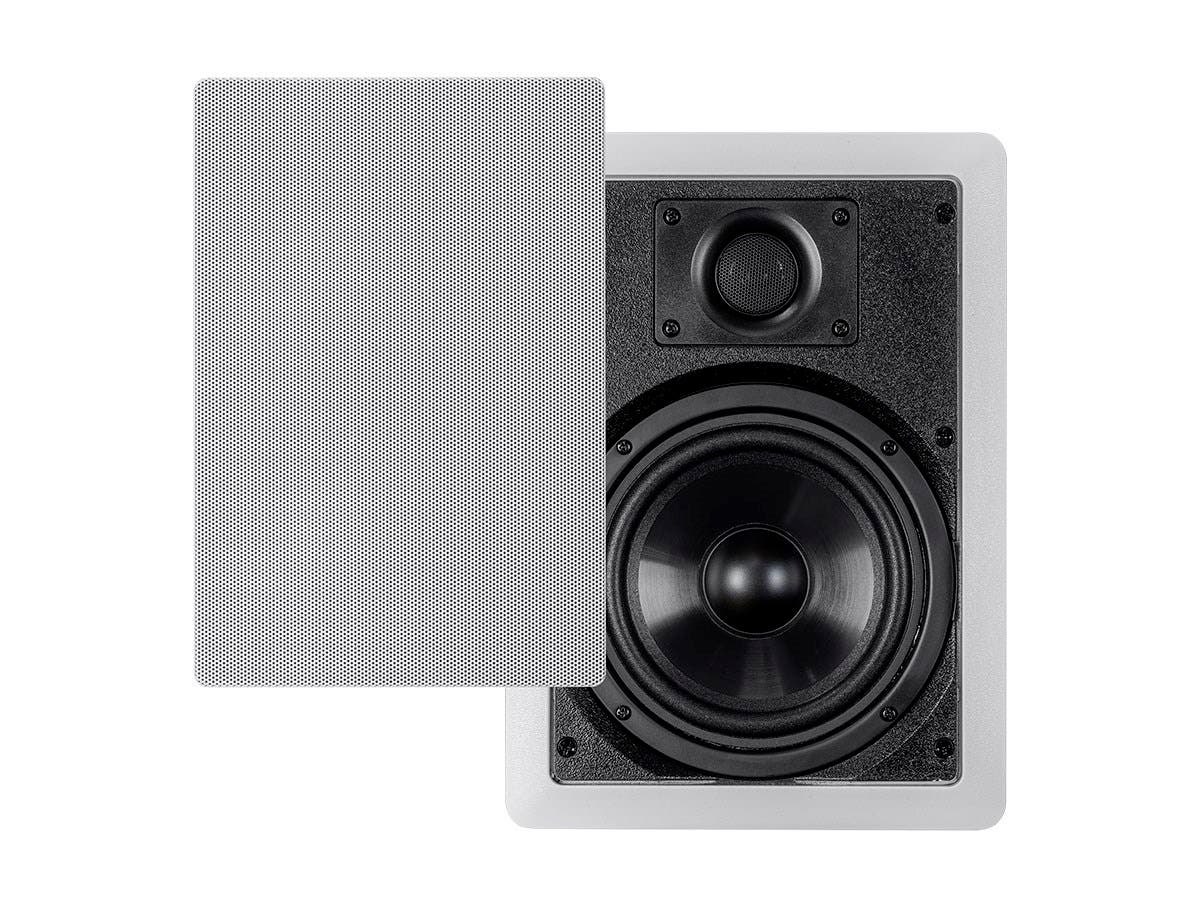 Monoprice Aria In-Wall Speakers 6.5-inch Polypropylene 2-Way (pair)-Large-Image-1