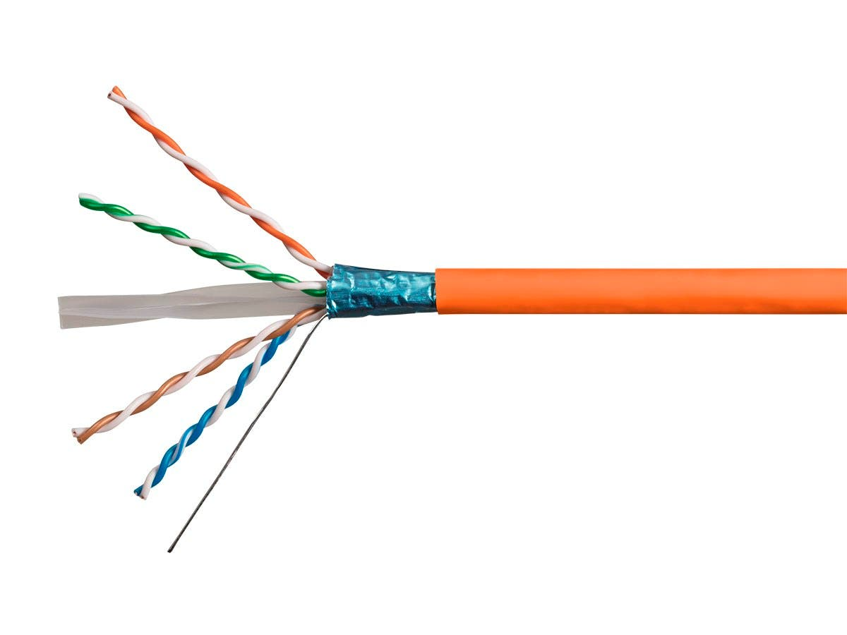Monoprice Cat6A Ethernet Bulk Cable - Solid, 550Mhz, FTP, CMR, Riser ...