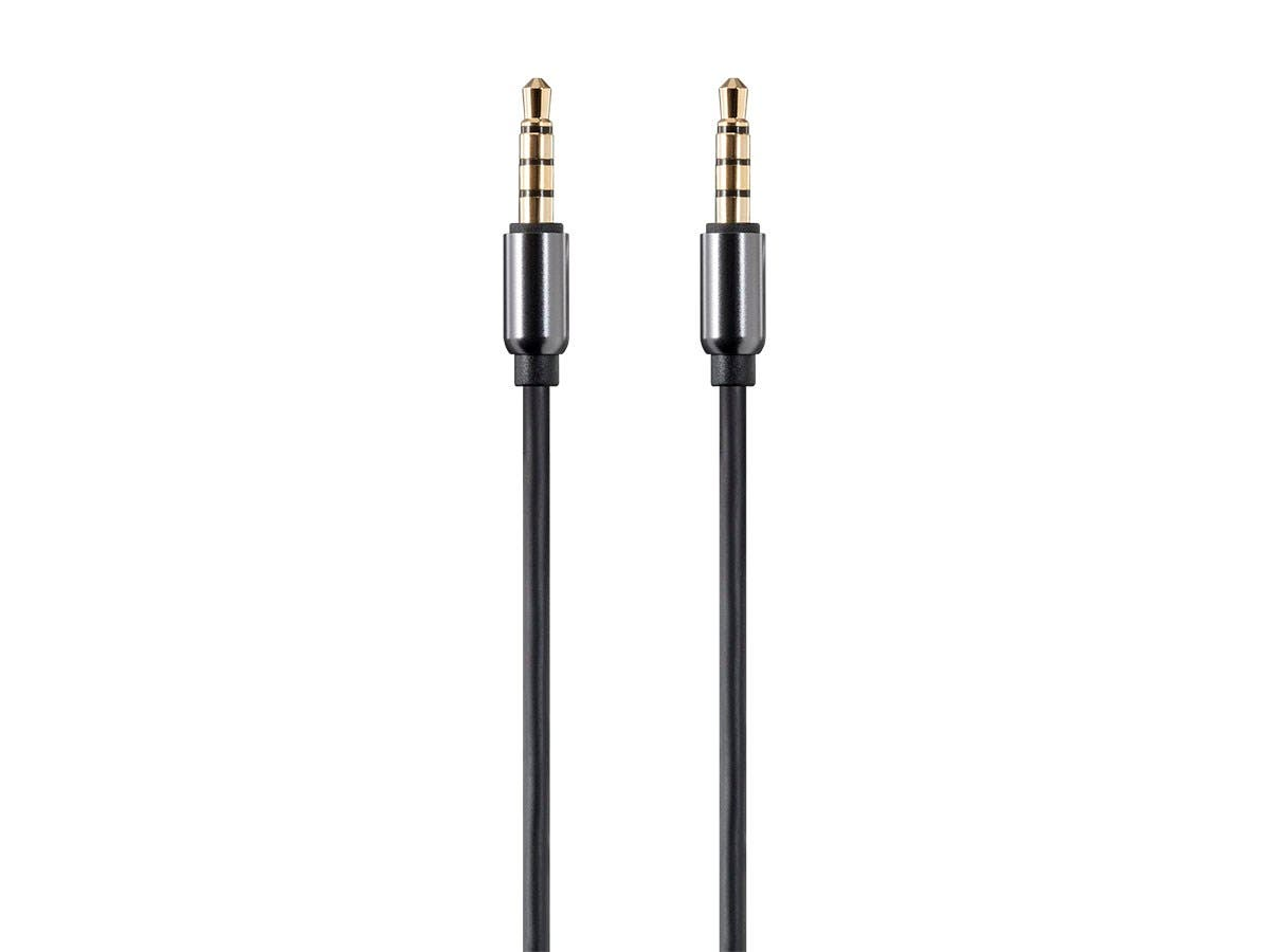 Monoprice Onyx Series Auxiliary 3.5mm TRRS Audio & Microphone Cable, 3ft-Large-Image-1