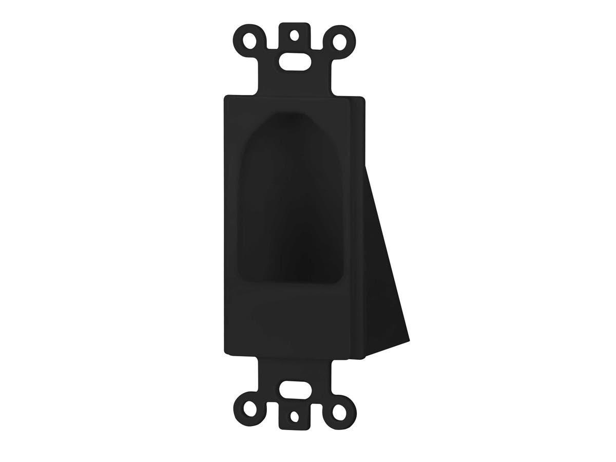 Monoprice Reverse Nose Decora Plate, Black-Large-Image-1