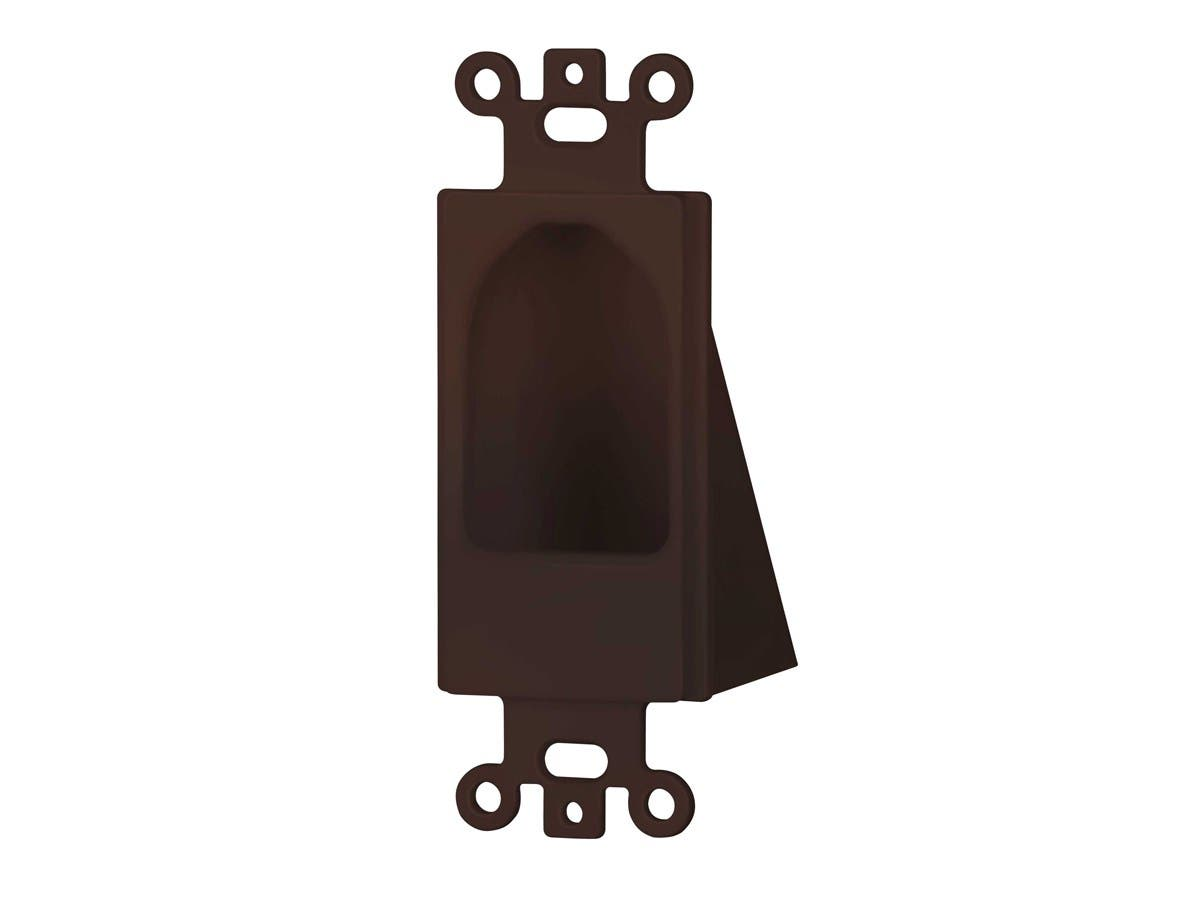 Monoprice Reverse Nose Decora Plate, Brown-Large-Image-1