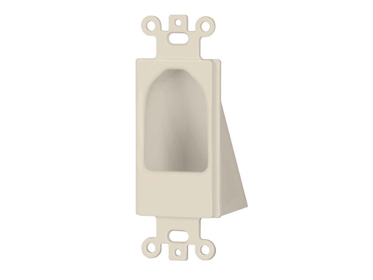 Reverse Nose Decora Plate, Lite Almond