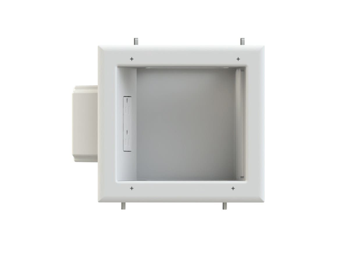 Recessed Media Box II with 15A 125V Duplex Receptacle